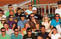 Spectators during the final match during day seven of the ATP Challenger Tour BMW Ljubljana Open 2011, on September 25, 2011, in TC Ljubljana Siska, Slovenia. (Photo by Vid Ponikvar / Sportida)