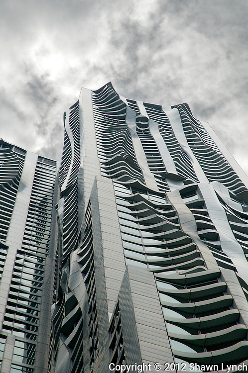 The Beekman tower, or New York By Gehry, is a 76-story residential skyscraper located in New York City located at 8 Spruce Street.  The building was designed by reknowned architect, Frank Gehry.  The tower stands at 870 feet in height.  Upon it's completion in 2010 it was the tallest residential building in the western hemisphere.