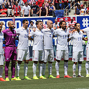 The USA National team line up before the US Men's National Team Vs Turkey friendly match at Red Bull Arena.  The game was part of the USA teams three-game send-off series in preparation for the 2014 FIFA World Cup in Brazil. Red Bull Arena, Harrison, New Jersey. USA. 1st June 2014. Photo Tim Clayton