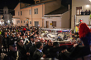 11 February 2016, Pietrelcina, Benevento, Italy. The mortal remains of St Pius of Pietrelcina (Padre Pio) arrives in procession on February 11, 2016 in Pietrelcina.