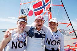 Bronze Medal  29er Men<br />Norway29erMenCrewNORMM18MadsMathisen<br />Norway29erMenHelmNORTM9TomasMathisen29erMenHelmSLOPJ1PeterJanezic<br />Day6, Final Day, 2015 Youth Sailing World Championships,<br />Langkawi, Malaysia