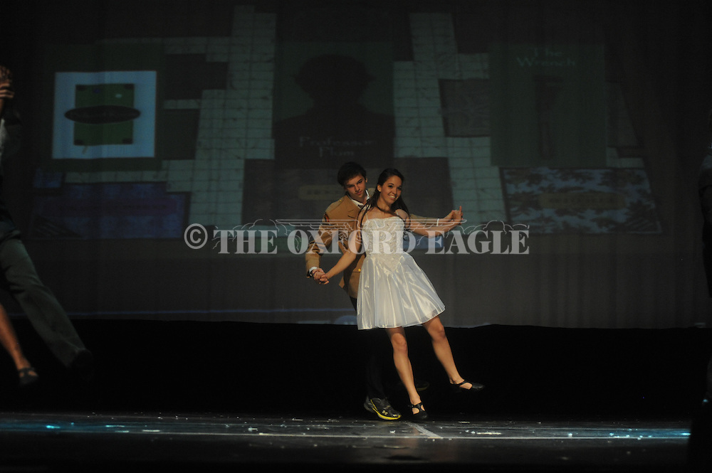 "Oxford High School students rehearse their production of ""Scream"" in Oxford, Miss. on Wednesday, October 26, 2011."
