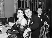 Catholic Stage Guild Ball, Gresham, Personalities Box - Eamon Andrews.20/11/1952