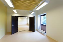 Practice room in H. Eller music school in Tartu, Estonia. Empty corridor