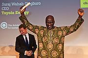 Suraj Wahab Ologburo of Toyola Energy Ltd receives the 2011 International Gold Award