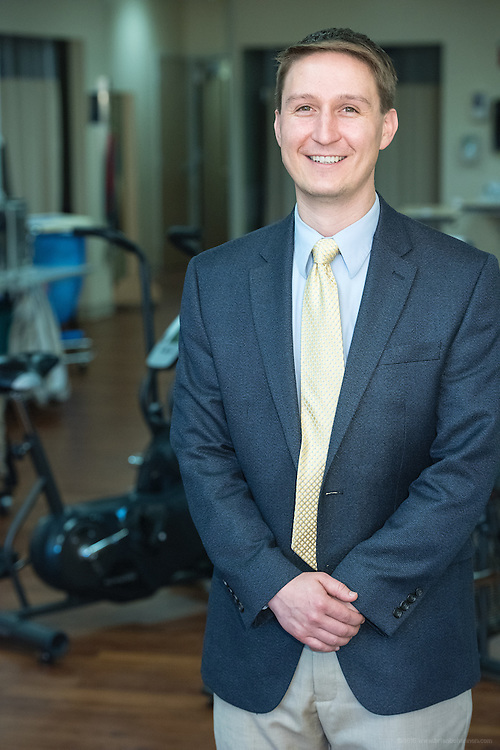 Orthopedic Surgeon Nicholas Kenney, M.D., photographed Friday, May 15, 2015 at Baptist Health in LaGrange, Ky. (Photo by Brian Bohannon/Videobred for Baptist Health)