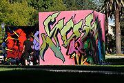 Neoglyphix: AllIndigenous Aerosol Art Exhibition by Native American graffiti artists from Arizona, Arizona State Museum, University of Arizona, Tucson, Arizona, USA.