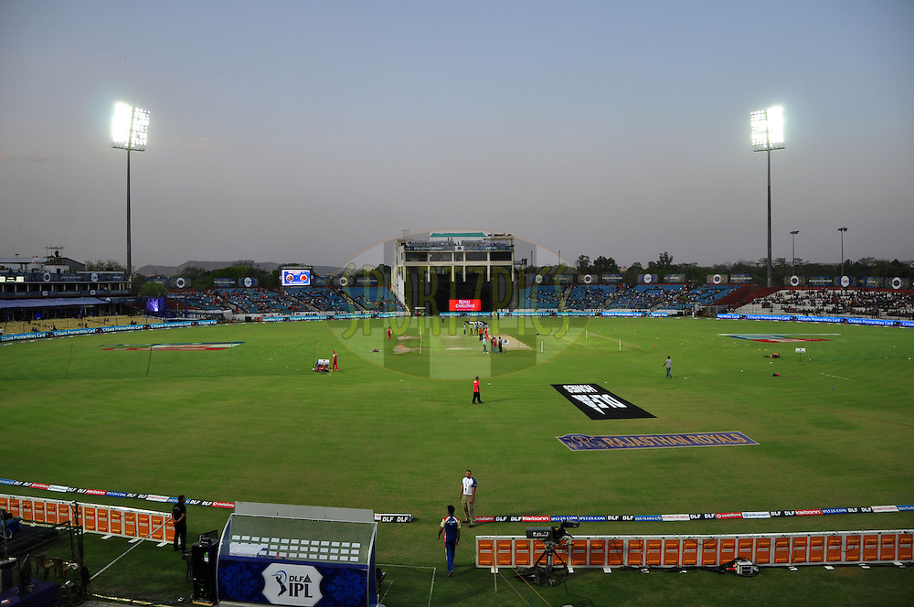 A view of ground during match 30 of the the Indian Premier League ( IPL) 2012  between The Rajasthan Royals and the Royal Challengers Bangalore held at the Sawai Mansingh Stadium in Jaipur on the 23rd April 2012..Photo by Arjun Panwar/IPL/SPORTZPICS