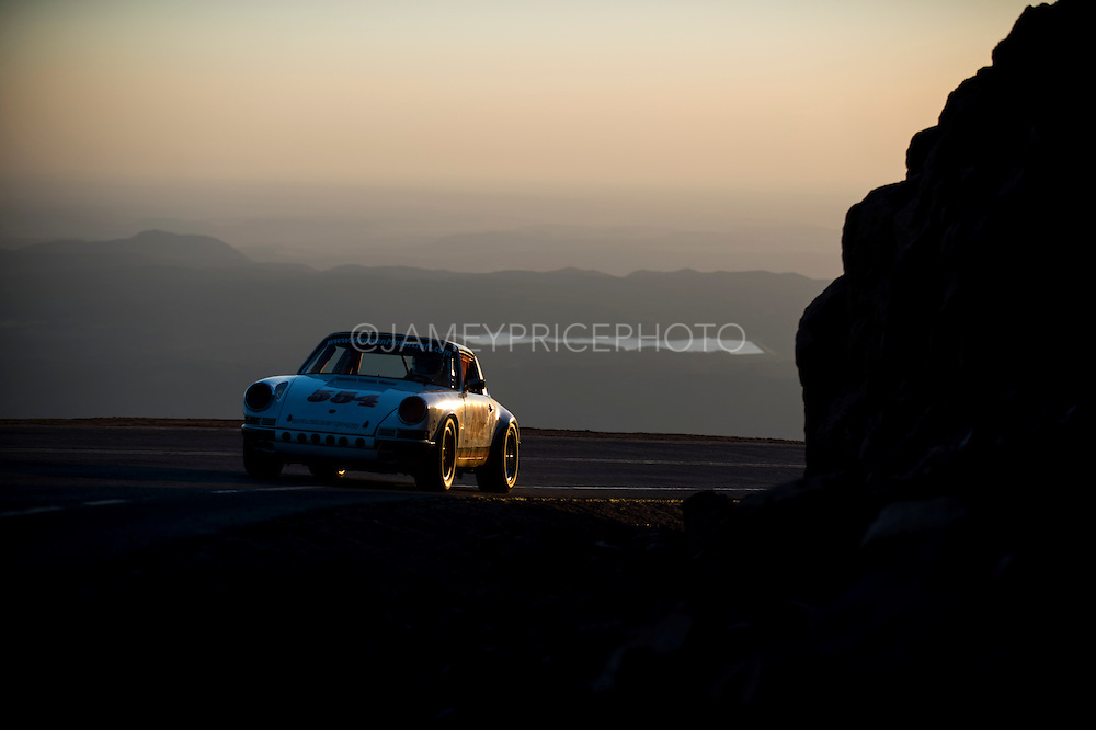 June 26-30 - Pikes Peak Colorado.  Dan Rose works through sector 2 on the mountain during practice for the 91st running of the Pikes Peak Hill Climb.