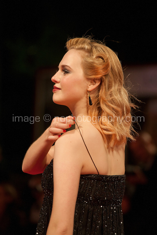 Odessa Young at the gala screening for the film Equals at the 72nd Venice Film Festival, Saturday September 5th 2015, Venice Lido, Italy.