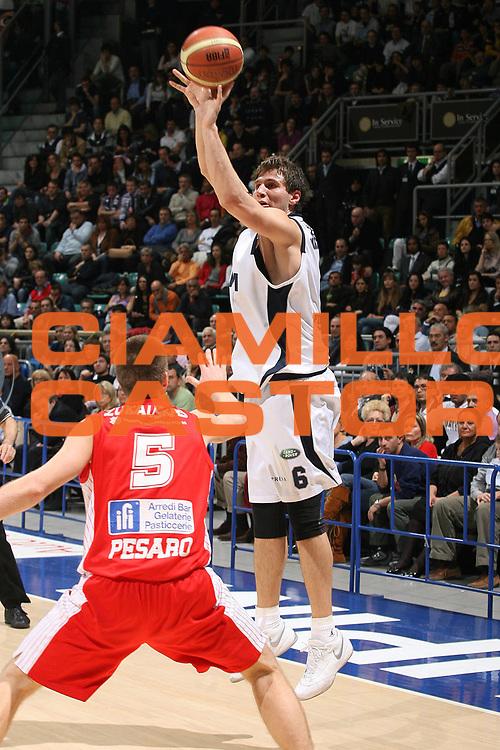 DESCRIZIONE : Bologna Lega A1 2007-08 Upim Fortitudo Bologna Scavolini Spar Pesaro<br /> GIOCATORE : Stefano Mancinelli<br /> SQUADRA : Upim Fortitudo Bologna<br /> EVENTO : Campionato Lega A1 2007-2008 <br /> GARA : Upim Fortitudo Bologna Scavolini Spar Pesaro<br /> DATA : 16/03/2008<br /> CATEGORIA : Tiro<br /> SPORT : Pallacanestro <br /> AUTORE : Agenzia Ciamillo-Castoria/M.Marchi