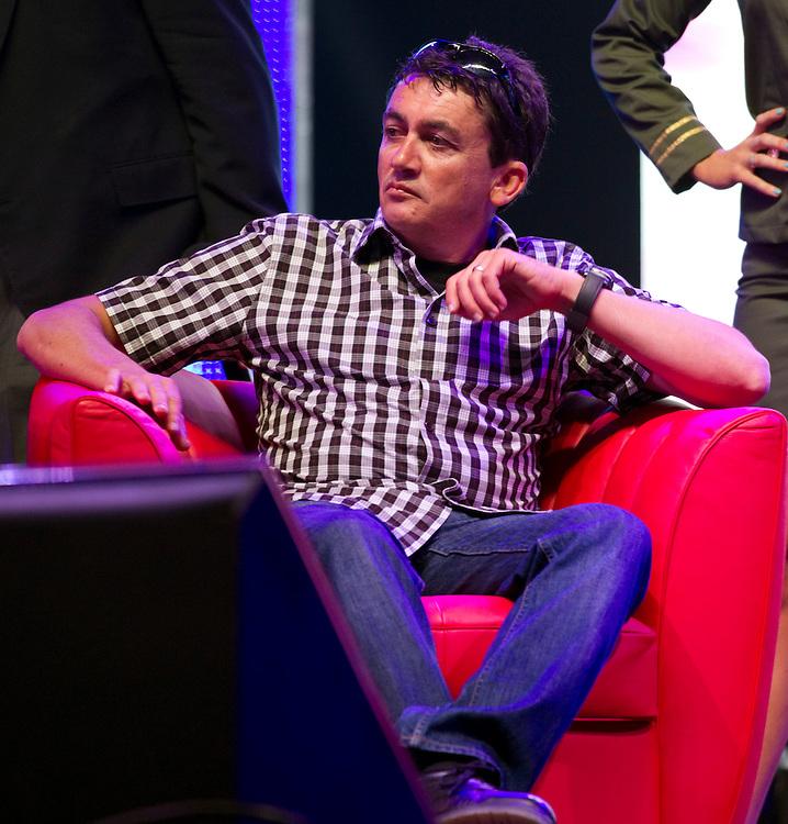 Tony Lentino, MEGA CEO at the launch of Mega website, Dotcom Mansion, Coatesville, Auckland, New Zealand, Sunday, January 20, 2013.  Credit:SNPA / David Rowland