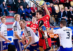 Branimir Koloper of Slovan  during the 1/ 8 Men's European Handball Challenge Cup match between RD Slovan, Slovenia and Ystads IF, Sweden, on February 21, 2009 in Arena Kodeljevo, Ljubljana, Slovenia. Slovan defeated Ystads 37-27 and qualified to quarterfinals. (Photo by Vid Ponikvar / Sportida)