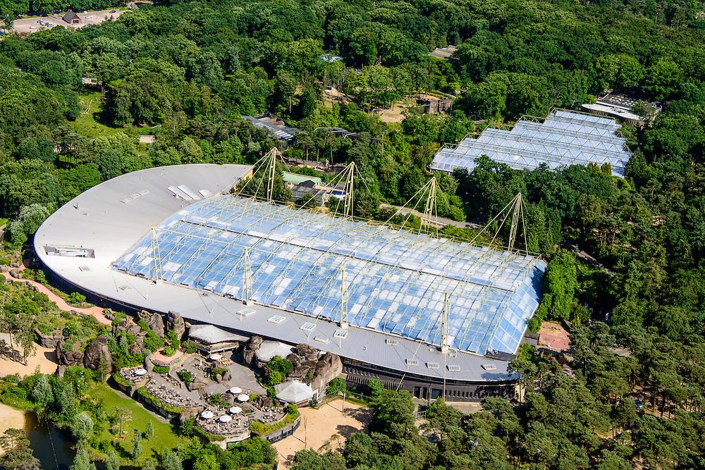 Nederland, Gelderland, Arnhem, 09-06-2016; particuliere dierentuin Burgers' Zoo.<br /> Private zoo Burgers' Zoo.<br /> <br /> luchtfoto (toeslag op standard tarieven);<br /> aerial photo (additional fee required);<br /> copyright foto/photo Siebe Swart