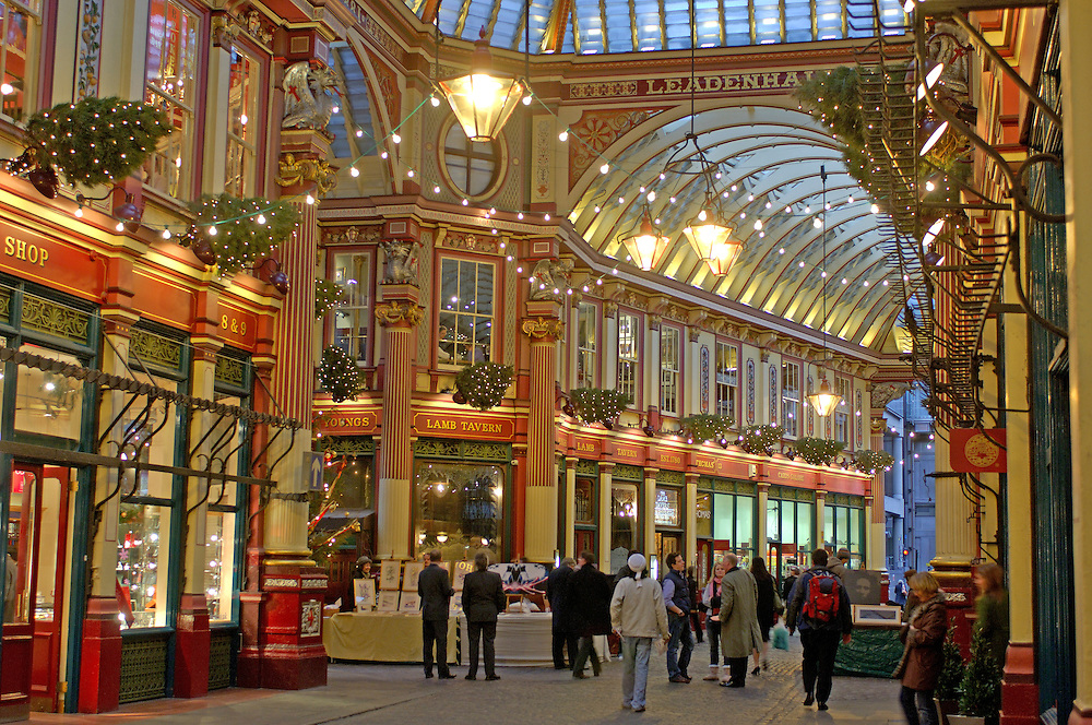 Leadenhall Market, The City, London, Great Britain, UK