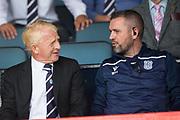 10th August 2019; Dens Park, Dundee, Scotland; SPFL Championship football, Dundee FC versus Ayr; Dundee technical director Gordon Strachan and coach Martin Harty