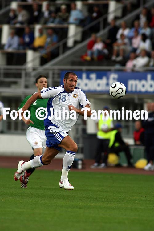16.08.2006, Olympic Stadium, Helsinki, Finland..Friendly Internatinal Match, Finland v Northern Ireland..Shefki Kuqi - Finland.©Juha Tamminen.....ARK:k