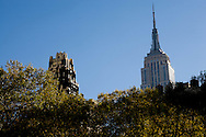 New York. Bryant park and garden, / Bryant park,   jardin public  New York - Etats-unis