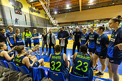 CInkarna Celje at 1min break during the basketball match between Akson Ilirija and Cinkarna Celje in Final Round of Pokal Članic 2018/19, on March 10, 2019 in Dvorana Tabor, Maribor, Slovenia. Photo by Blaž Weindorfer / Sportida