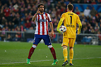 Atletico de Madrid´s Raul Garcia and Bayer 04 Leverkusen´s goalkeeper Leno during the UEFA Champions League round of 16 second leg match between Atletico de Madrid and Bayer 04 Leverkusen at Vicente Calderon stadium in Madrid, Spain. March 17, 2015. (ALTERPHOTOS/Victor Blanco)
