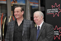 "Edinburgh International Film Festival, Sunday 26th June 2016<br /> <br /> Stars turn up on the closing night gala red carpet for the World Premiere of ""Whisky Galore!""  at the Edinburgh International Film Festival 2016<br /> <br /> Michael Nardone who plays Brown and Brian Pettifer who plays Angus in the film<br /> <br /> (c) Alex Todd 