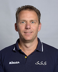 24-10-2012 VOLLEYBAL: SSS TEAMSELECTIE 2012-2013: BARNEVELD<br /> Photoshoot SSS Barneveld seizoen 2012 - 2013 / Trainer Jacco Albers<br /> ©2012-FotoHoogendoorn.nl