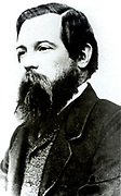 Friedrich Engels (1820-1895) German socialist, friend of Karl Marx and founder with him of Scientific Socialism.  Engels c1850.
