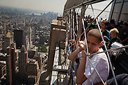 NEW YORK, NY – MAY 25, 2011: Alex Rodriguez of Donegan Elementary School in Bethlehem stands atop the Empire State Building in New York City. <br />