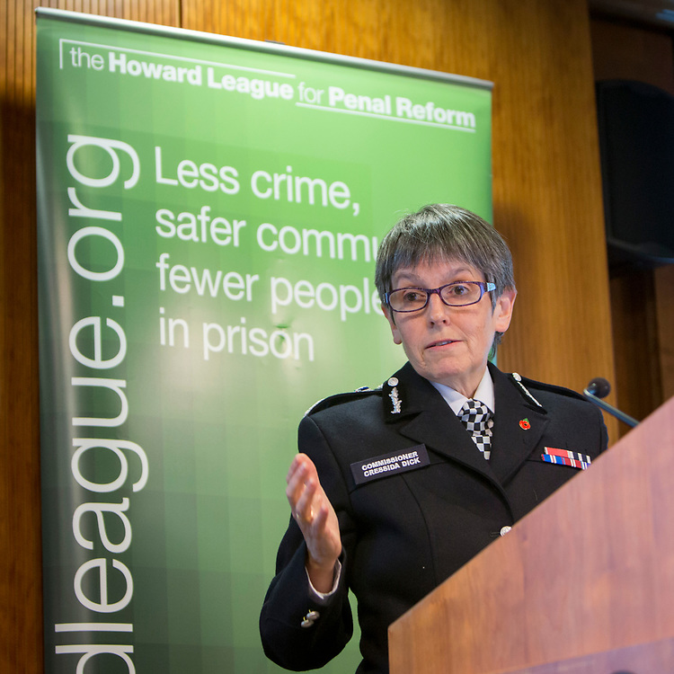 Cressida Dick speaking at The Howard League for Penal Reform 'Policing the community' conference and Community Awards 2017. The King's Fund, London, 8 November 2017