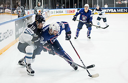 Veli-Matti Savinainen of Finland vs Laurent Meunier of France during the 2017 IIHF Men's World Championship group B Ice hockey match between National Teams of Finland and France, on May 7, 2017 in Accorhotels Arena in Paris, France. Photo by Vid Ponikvar / Sportida