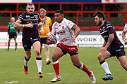 Hull Kingston Rovers winger Junior Vaivai (2) during the Betfred Super League match between Hull Kingston Rovers and Leeds Rhinos at the Lightstream Stadium, Hull, United Kingdom on 29 April 2018. Picture by Mick Atkins.
