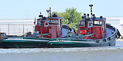"The Great Lakes Towing Company keeps two of its tugboats in Green Bay Wisconsin to service large vessels entering the Port of Green Bay. Despite their rather huge proportions, they still have that ""tugboat look"" that has been made famous by countless children's books. It's slightly curious that their names are the North Dakota and the Texas, but they're both from Delaware."