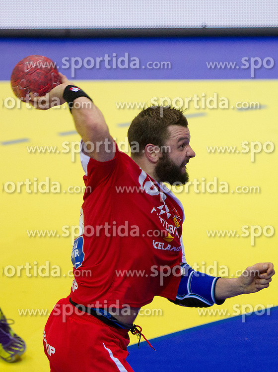 Robert Gunnarsson of Iceland during handball match between Iceland and Norway in  2nd Round of Preliminary Round of 10th EHF European Handball Championship Serbia 2012, on January 18, 2012 in Millennium Center, Vrsac, Serbia. Iceland defeated Slovenia 34-32. (Photo By Vid Ponikvar / Sportida.com)