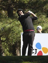 October 20, 2018 - Jeju, SOUTH KOREA - Oct 20, 2018-Jeju, South Korea-SCOTT PIERCY of USA action on the 6th tee during the PGA Golf CJ Cup Nine Bridges Round 3 at Nine Bridges Golf Club in Jeju, South Korea. (Credit Image: © Ryu Seung-Il/ZUMA Wire)