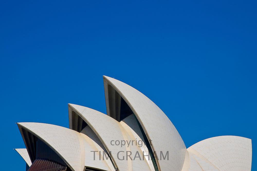 Sculptural view of Sydney Opera House, Australia