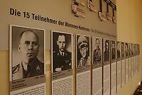 """15 JAN 2002, BERLIN/GERMANY:<br /> Bilder der Teilnehmer der Konferenz zur sog. """"Endloesung der Judenfrage"""" im Konferenzraum der Wannsee-Konferenz, Gedenk- und Bildungsstaette Haus der Wannsee-Konferenz, Am Grossen Wannsee 56-58, 14109 Berlin<br /> IMAGE: 20020115-01-023<br /> KEYWORDS: Konferenzsaal, Saal"""