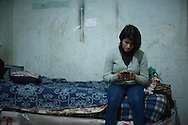 Lima, Peru. Jicamarca. Teresa Sedano Unocc  in her bedroom