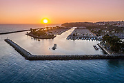 Sunset Aerial View of Dana Point Harbor