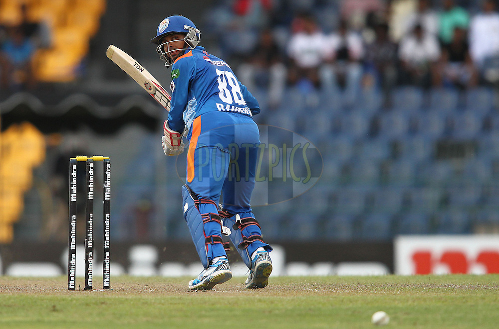 Suraj Randiv of Nagenahira Nagas looks back after sneaking a delivery down the legside during match 19 of the Sri Lankan Premier League between Uthura Rudras and Nagenahiras held at the Premadasa Stadium in Colombo, Sri Lanka on the 26th August 2012. .Photo by Shaun Roy/SPORTZPICS/SLPL