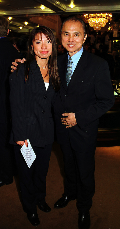 MR & MRS JIMMY CHOO he is the shoe designer, at a reception in London on 5th October 1999.MXD 43