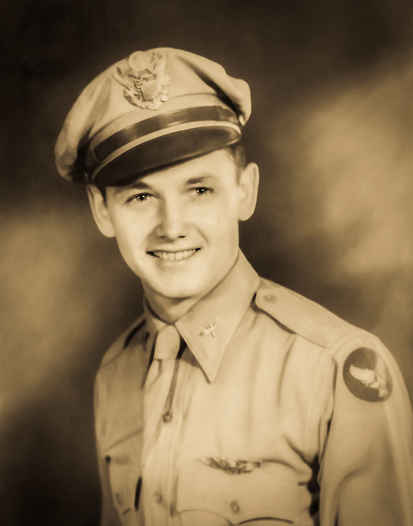 Floyd Burns as a young Army Air Corps pilot.