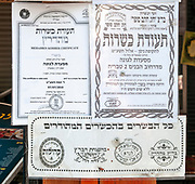 Three different certifications of Kashrut (also kashruth or kashrus) at the entrance to a restaurant in Tiberias, Israel. Kashrut is the set of Jewish religious dietary laws. Food that may be consumed according to halakha (Jewish law) is deemed kosher. It is not enough for the restaurant to act by the Jewish laws and regulations they are also required to pay the issuing agency a high fee to display such a certificate
