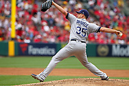 May 20, 2018 - Anaheim, CA, U.S. - ANAHEIM, CA - MAY 20: Matt Andriese (35) of the Rays delivers a pitch to the plate during the major league baseball game between the Tampa Bay Rays and the Los Angeles Angels on May 20, 2018 at Angel Stadium of Anaheim in Anaheim, California. (Photo by Cliff Welch/Icon Sportswire) (Credit Image: © Cliff Welch/Icon SMI via ZUMA Press)