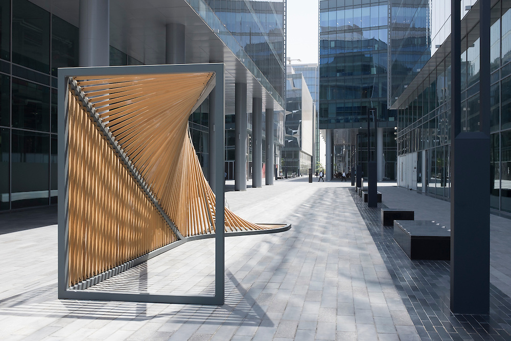 DUBAI, UAE —AUGUST 21, 2016: Dubai Design District (D3) D is a purpose-built community dedicated to promoting and nurturing emerging local talent and providing a creative home to established international design, luxury and fashion brands.