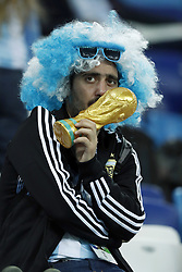 fan of Argentina during the 2018 FIFA World Cup Russia group D match between Argentina and Croatia at the Novgorod stadium on June 21, 2018 in Nizhny Novgorod, Russia