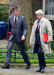 © Licensed to London News Pictures. 23/10/2012. Westminster, UK Scottish Secretary Michael Moore (L) and Leader of the Commons Andrew Lansley. Ministers attend a Cabinet Meeting in 10 Downing Street today 23 October 2012. Photo credit : Stephen Simpson/LNP