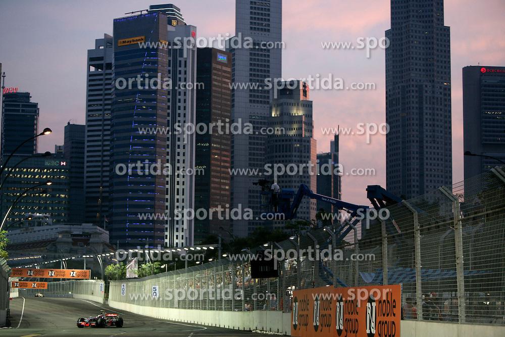 FORMEL 1: GP von Singapur, 27.09.2009 <br /> Rennstrecke, Stadtansicht, Illustration<br /> &Atilde;'&Acirc;&copy; pixathlon