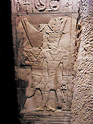 Taharqa's shrine is part of a temple built at Kawa in about BC 680. It was built on the orders of Taharqa, who was Pharaoh from 690 - 664 BC and was intended to give him help in ruling over his large kingdom. The shrine was dedicated to the sun and fertility god Amun-Re.