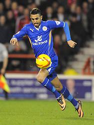 RIYAD MAHREZ LEICESTER CITY, Nottingham Forest v Leicester City, City Ground Nottingham,  Sky Bet Championship, 19th Febuary 2014