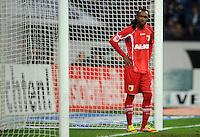 FUSSBALL   1. BUNDESLIGA   SAISON 2011/2012    15. SPIELTAG FC Schalke 04 - FC Augsburg            04.12.2011 Lorenzo DAVIDS (Augsburg) enttaeuscht